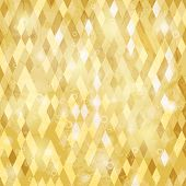 stock photo of parallelepiped  - Geometric background with grungy texture in yelow tone - JPG