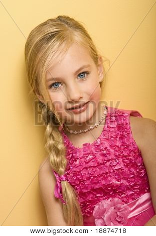 Picture Or Photo Of Beautiful Blond Five Year Old Girl In