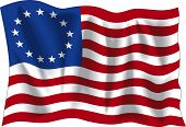 stock photo of betsy ross  - Betsy Ross flag - JPG