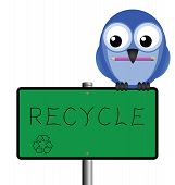 Bird sign recycle