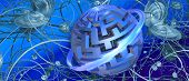 abstract graphic three-dimensional technology/business/internet banner