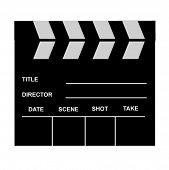 A classic film slate