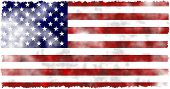 stock photo of usa flag  - a run down worn out aged and grunge looking flag of the USA - JPG