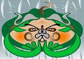 Water devil. Monster. Illustration.