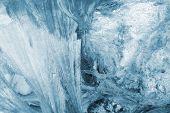 blue winter ice