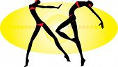 vector image of two dancing people