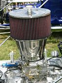 stock photo of breather  - The air breather on a hotrod called a T - JPG