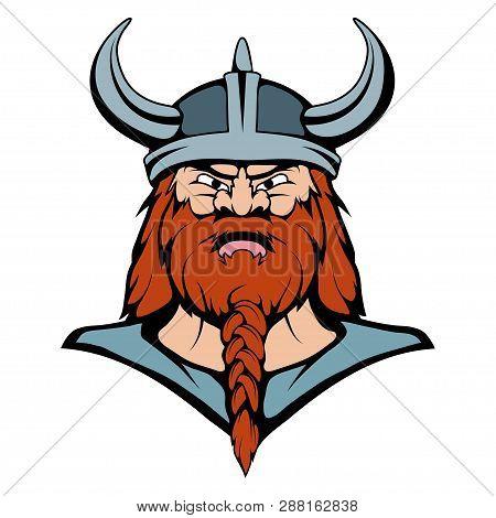 Viking Mascot Graphic Viking Head