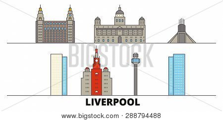 United Kingdom Liverpool Flat Landmarks