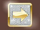 Gold arrow forward button