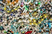 Colorful Shinny Bracelets At A Store Display. poster