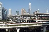 SHANGHAI, CHINA - NOVEMBER 27: Modern highways and multi-tiered fly-overs criss-cross the Shanghai s