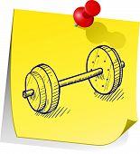 Go to the gym sticky note
