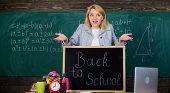 Digital World. School. Home Schooling. Surprised Woman. Back To School. Teachers Day. Woman In Class poster