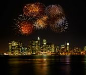 Vuurwerk over new york