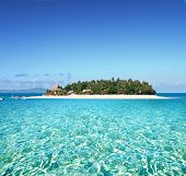 Amazing Fiji island and clear sea