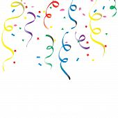 pic of reveillon  - colorful dangling confetti - JPG
