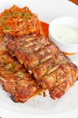 Ribs with smoky spicy sauce poster