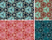 flower ornament pattern set