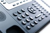 Close Up - Telephone Keypad For Communication, Contact Us And Customer Service Support poster