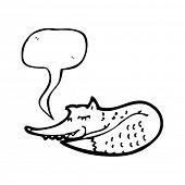 Fuchs mit Sprechblase schlafen