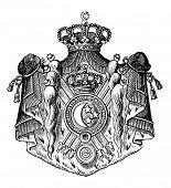 Das alte Wappen von Ägypten. Stich von Alwin Zschiesche veröffentlicht am