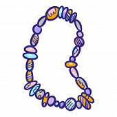 Gemstone Bracelet Icon. Hand Drawn Illustration Of Gemstone Bracelet Icon For Web Design poster