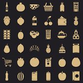 Beverage Icons Set. Simple Style Of 36 Beverage Vector Icons For Web For Any Design poster