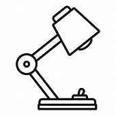 Desktop Lamp Icon. Outline Desktop Lamp Icon For Web Design Isolated On White Background poster