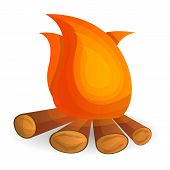 Flame Bonfire Icon. Cartoon Of Flame Bonfire Icon For Web Design Isolated On White Background poster