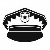 Police Cap Icon. Simple Illustration Of Police Cap Icon For Web Design Isolated On White Background poster
