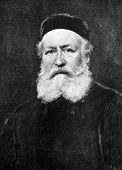 Compositor Charles Gounod. Gravura em aço por Bod de imagens pelo pintor Carolus Duran. Publicado