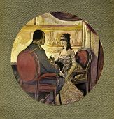Rendezvous. Illustration by artist Zahar Pichugin from book