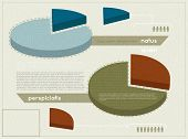 Elements of infographics in retro style, eps10 vector
