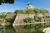 Reconstruction of a great castle of famous Hideyoshi at Osaka, Japan