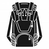Large Tourist Backpack Icon. Simple Illustration Of Large Tourist Backpack Vector Icon For Web Desig poster