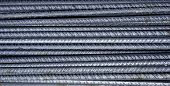 Steel Background, Steel Construction, Construction Irons For Building, Stack Of Ribbed Steel poster