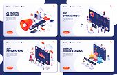 Search Engine Rank, Seo Optimization Vector Isometric Landing Pages. Seo Marketing And Analytics, On poster
