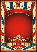 image of tent  - Nice vintage circus background with big top - JPG