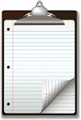 Clipboard Wide Ruled School Notebook Paper
