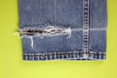 Frayed Denim Jeans