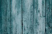 Rustic Old Wood Plank Background. Blue And Green Vintage Timber Texture Background. Blue Wooden Plan poster