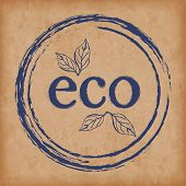 Food Products Packaging Icons, Organic Natural Eco And Bio Products  Round Emblem, Painted Icon For  poster
