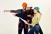 We Are The Construction Crew. People Working Together On Construction Design. Construction Workers T poster