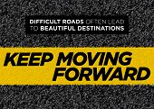 Vector Motivational Poster. Keep Moving Forward. Healthy Life Background. Inspirational Workout, Fit poster