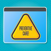 Handwriting Text Writing Preventive Care. Concept Meaning Health Prevention Diagnosis Tests Medical  poster