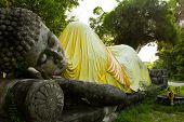 Monuments Of Sleeping Buddah Thailand