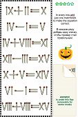 pic of roman numerals  - Mental gym visual math puzzle with roman numerals - JPG