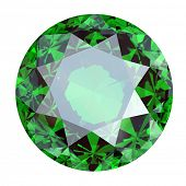 pic of peridot  - Round Gemstone isolated - JPG