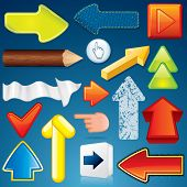 Set of Various Arrow Icons. Abstract Design Elements